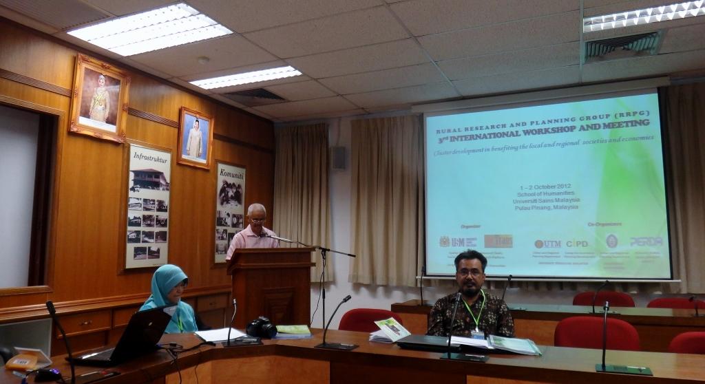 Opening session of 3rd RRPG Workshop at Universiti Sain Malaysia, Penang, Malaysia. 1-2 October 2012.
